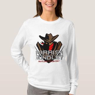 Douille de dames de pays proscrite par t-shirt