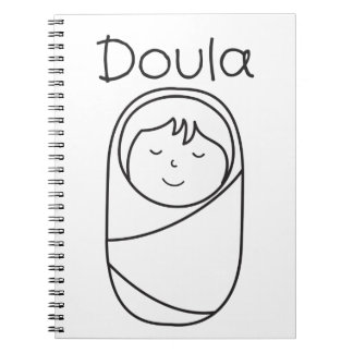 Doula and Baby- Doula Gift Notebook