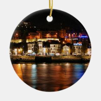 Douro river in Porto, Portugal Ceramic Ornament