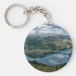 Douro Valley Basic Round Button Keychain
