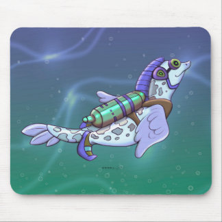 DOUZOU ALIEN FISH CUTE CARTOON MOUSE PAD
