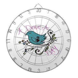 Dove A Day Dartboard With Darts