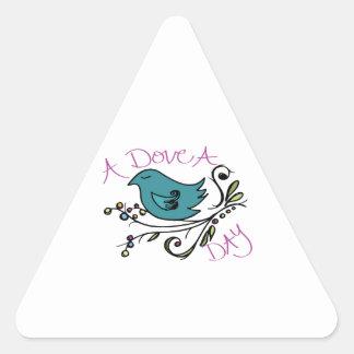 Dove A Day Triangle Sticker