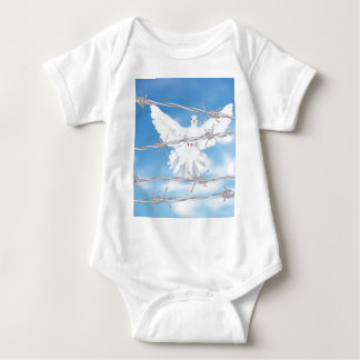 Dove and Barbed Wire Baby Bodysuit