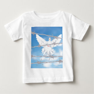 Dove and Barbed Wire Baby T-Shirt