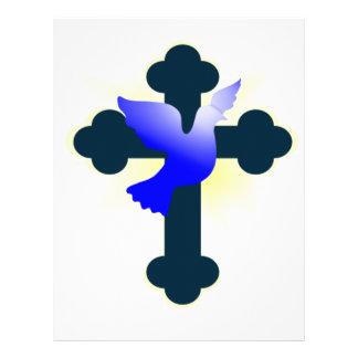 Dove and Cross Letterhead