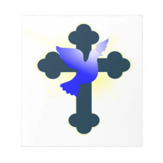 Dove and Cross Notepad