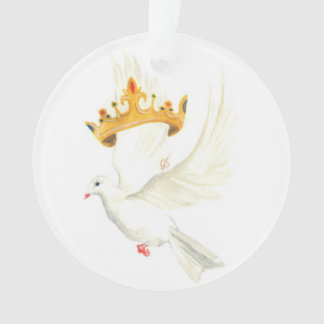 Dove and crown ornament