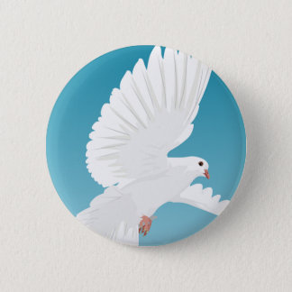 Dove Bird Birds Feather Nature Animal Wing 2 Inch Round Button