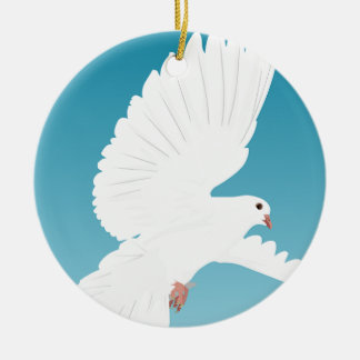 Dove Bird Birds Feather Nature Animal Wing Ceramic Ornament