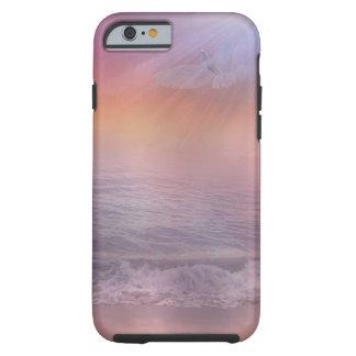 Dove Bird on Lavender and Pink Ocean Landscape Tough iPhone 6 Case