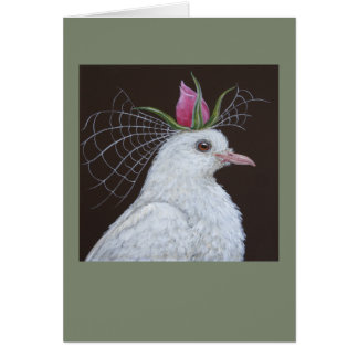 Dove Bride greeting card