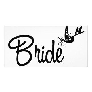 Dove & Bride Custom Photo Card