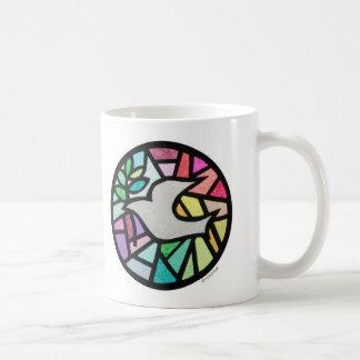 dove classic white coffee mug