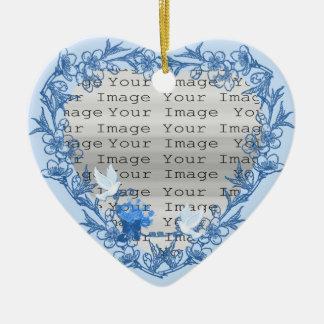 Dove Custom Heart Ornament