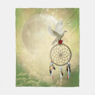 Dove Dreamcatcher Fleece Blanket