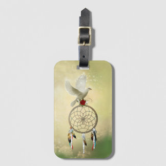 Dove Dreamcatcher Luggage Tag