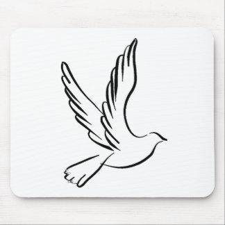 Dove Flying Mouse Pad