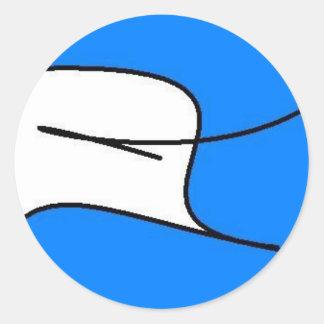 Dove Graphic Classic Round Sticker