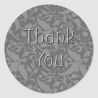 Dove Gray Thank You Sticker-TY01 Classic Round Sticker
