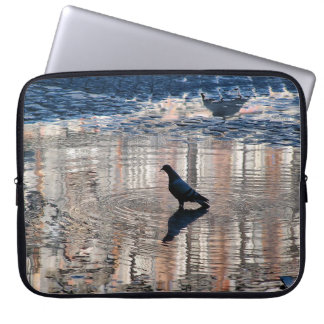 Dove in a pool of the Greater Place of Madrid Laptop Computer Sleeve