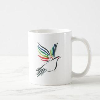 Dove in flight classic white coffee mug