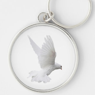 Dove in Flight Premium Keychain