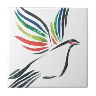 Dove in flight tile