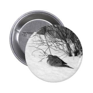 Dove in the Snow Button