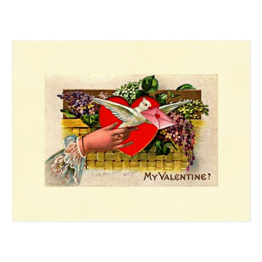 Dove Messenger Valentine Postcard