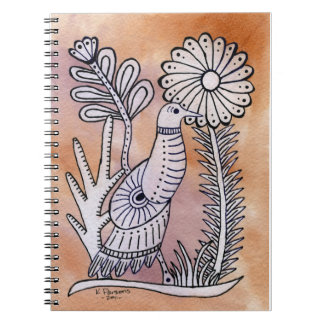 Dove, Mexican Bark Style Notebook