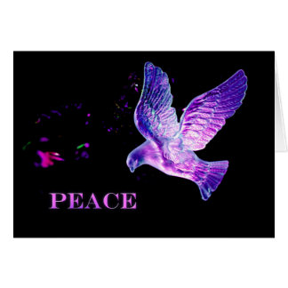 Dove of peace Christmas design Card