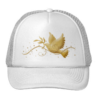 Dove of peace Christmas holidays elegant peak caps Trucker Hat