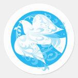 Dove of Peace Classic Round Sticker