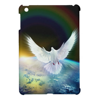 Dove of Peace Holy Spirit over Earth with Rainbow Case For The iPad Mini