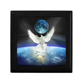 Dove of Peace over Earth from Space Gift Box