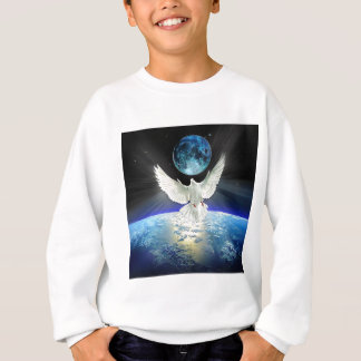 Dove of Peace over Earth from Space Sweatshirt