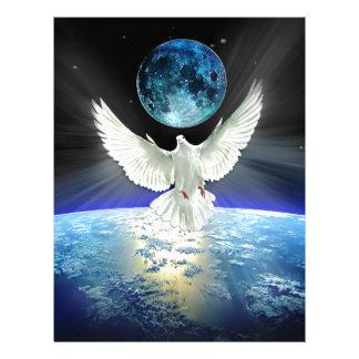 Dove of Peace over Planet Earth Sunrise Letterhead