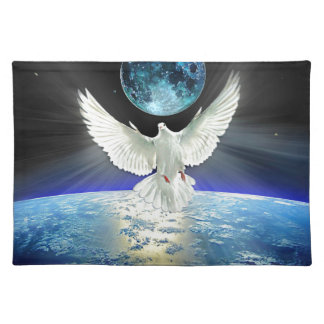 Dove of Peace over Planet Earth Sunrise Placemat