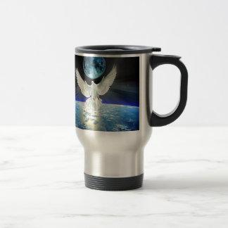 Dove of Peace over Planet Earth Sunrise Travel Mug
