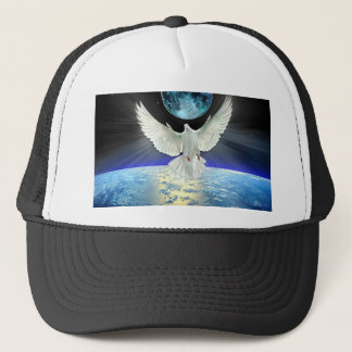 Dove of Peace over Planet Earth Sunrise Trucker Hat