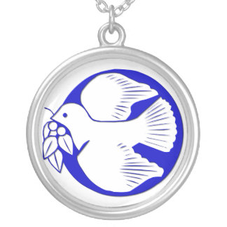 Dove of Peace Silver Plated Necklace