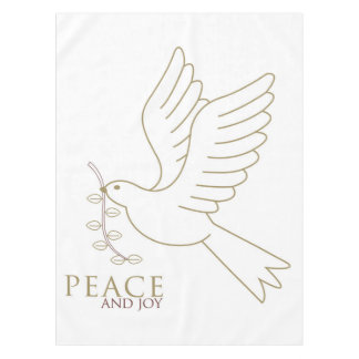 Dove of peace tablecloth