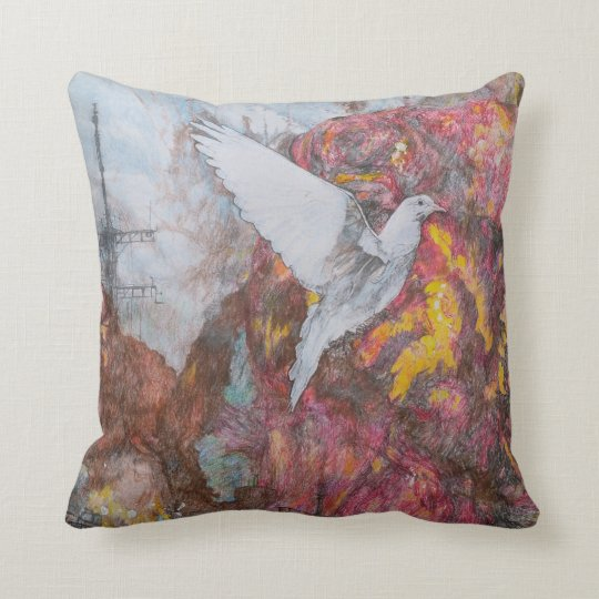 Dove of Peace Throw Cushion