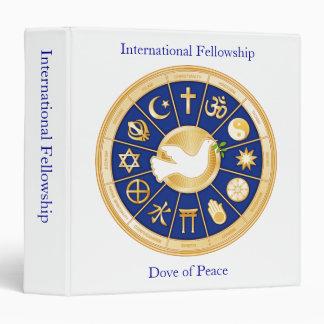 Dove of Peace Vinyl Binder