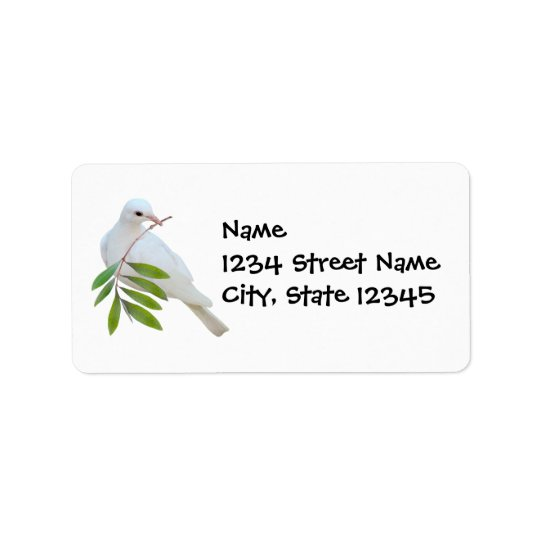 Dove Olive Branch Address Label