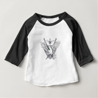 Dove Olive Leaf Sword Crest Tattoo Baby T-Shirt