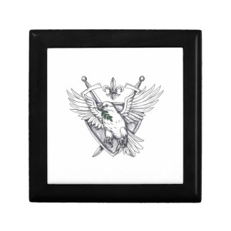 Dove Olive Leaf Sword Crest Tattoo Gift Box