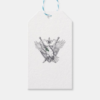 Dove Olive Leaf Sword Crest Tattoo Pack Of Gift Tags