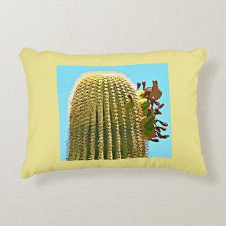 Dove on Saguaro Cartoon Throw Pillow